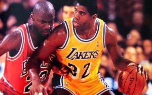 Michael Jordan & Magic Johnson