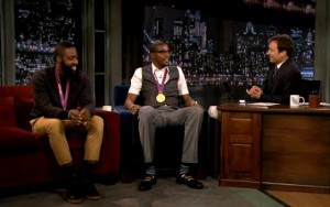 James Harden, Kevin Durant & Jimmy Fallon